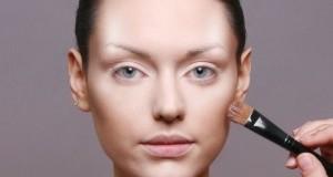 Худое лицо с помощью макияжа