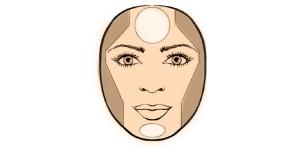 Круглое лицо сделать худее