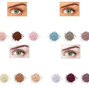 Палитра теней для зеленых глаз