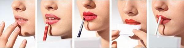 Сделать губы матовыми поэтапно