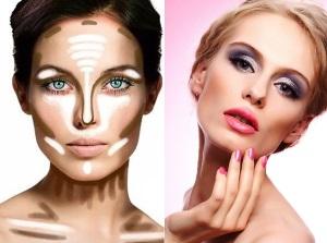 Сделать лицо худее макияжем