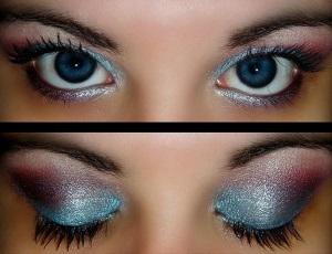 Тени для макияжа голубых глаз
