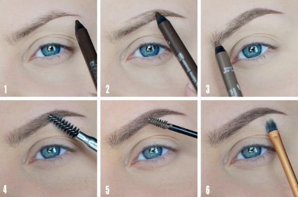 Как покрасить брови карандашом поэтапно