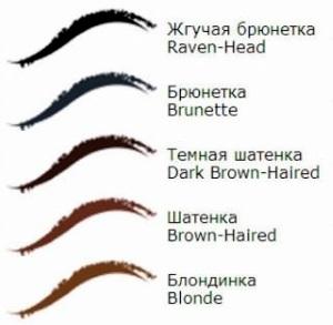 Как подобрать цвет бровей под цвет волос