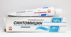 Синтомицин от прыщей