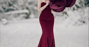 Макияж под платье цвета марсала