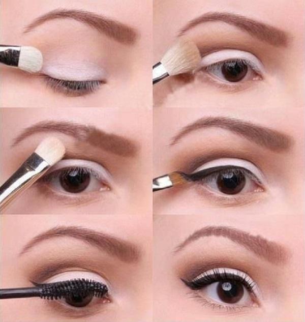 Пошаговая инструкция дневного макияжа глаз