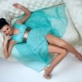 Макияж под бирюзовое платье