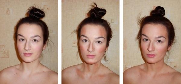 Схема нанесения средства на кожу лица