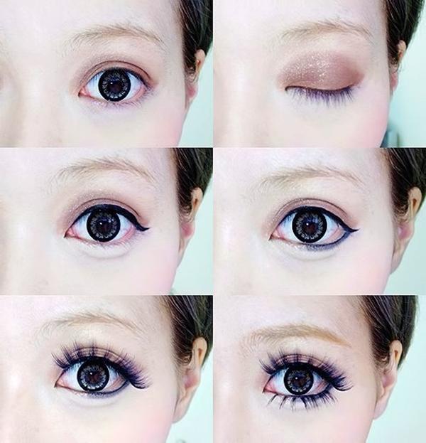 Макияж глаз в стиле аниме