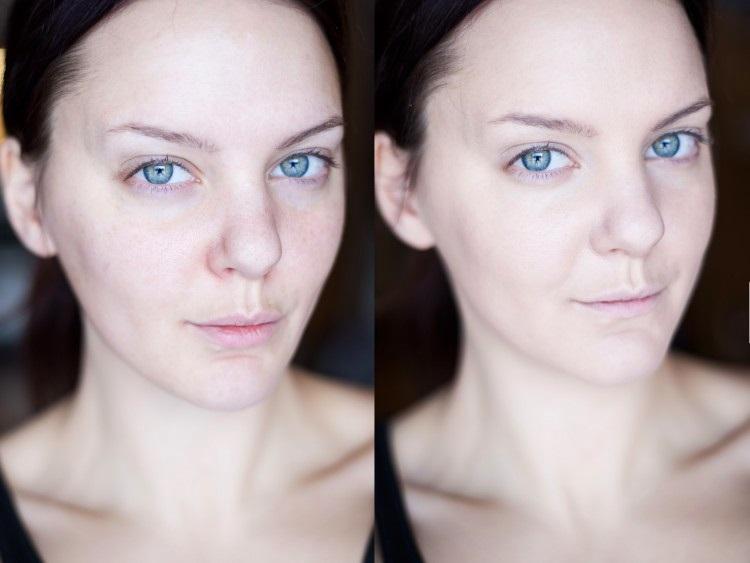 Этап подготовки кожи лица